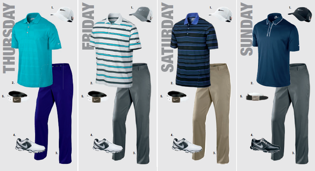 Scott Brown's scripted apparel for the 2013 PGA Championship.