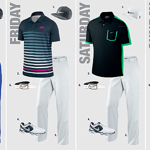 Thorbjorn Olesen's scripted apparel for the 2013 PGA Championship.