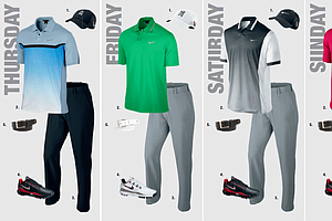 Tiger Woods' scripted apparel for the 2013 PGA Championship.