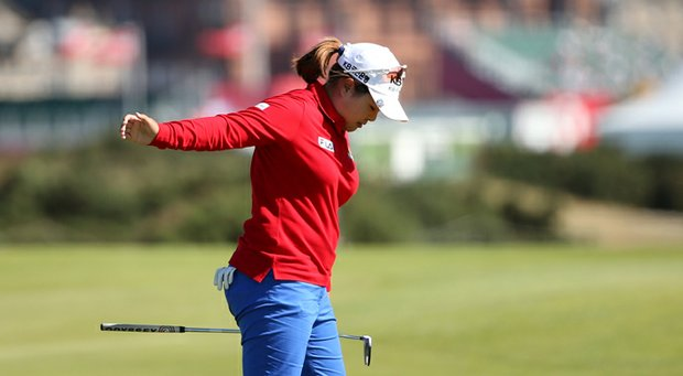 Inbee Park during the second round of the 2013 Women's British Open at St. Andrews