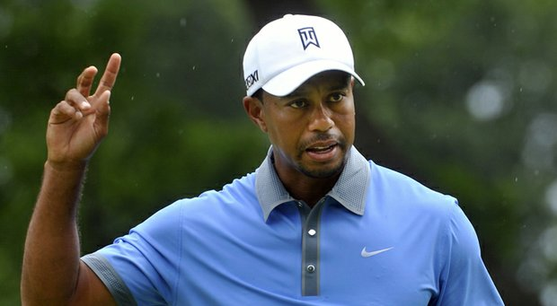 Tiger Woods during the second round of the WGC-Bridgestone Invitational.