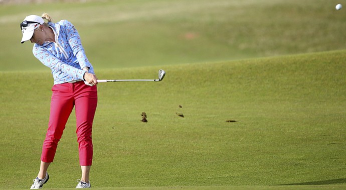 Morgan Pressel during the second round of the 2013 Women's British Open at St. Andrews.