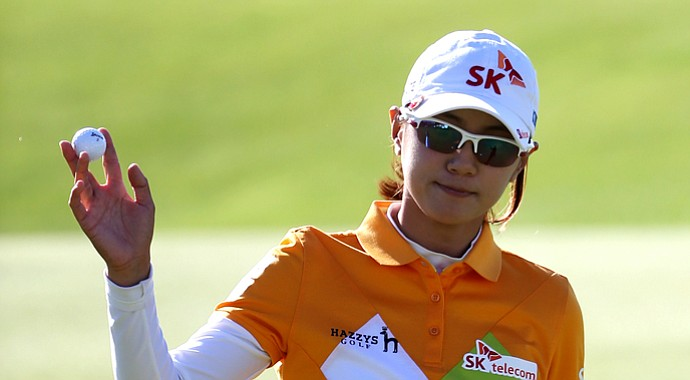 Na Yeon Choi during the second round of the 2013 Women's British Open at St. Andrews.