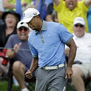 Tiger Woods during the second round of the 2013 WGC-Bridgestone Invitational at Firestone CC in Akron, Ohio.