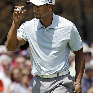 Tiger Woods during the third round of the 2013 WGC-Bridgestone Invitational at Firestone CC in Akron, Ohio.