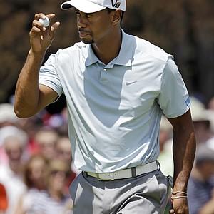 Tiger Woods during the third round of the 2013 WGC-Bridgestone Invitational at Firestone CC in Akron, Ohio.