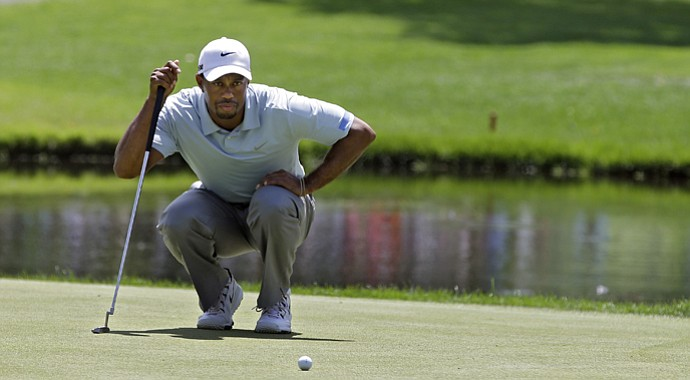 Tiger Woods during the third round of the 2013 WGC-Bridgestone Invitational at Firestone in Akron, Ohio.