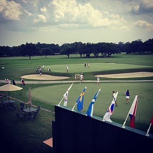 An Instagram view of the putting green and No. 18 during a practice round prior to the 2013 U. S. Women's Amateur at Country Club of Charleston.