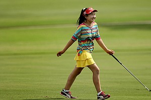 Lucy Li during practice for the 2013 U.S. Women's Amateur in Charleston, S.C.