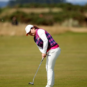 Inbee Park during Sunday play at the 2013 British Open at St. Andrews.