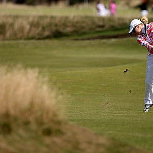Morgan Pressel during the third round of the 2013 Women's British Open at St. Andrews.