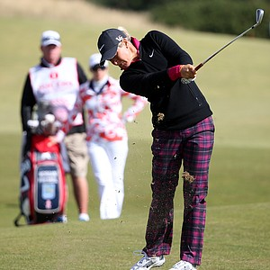 Suzann Pettersen during the third round of the 2013 Women's British Open at St. Andrews.