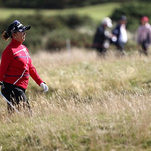 Miki Saiki during the third round of the 2013 Women's British Open at St. Andrews.
