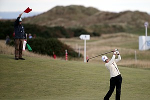 Na Yeon Choi during the third round of the 2013 Women's British Open at St. Andrews.