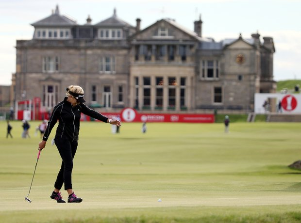Natalie Gulbis during the third round of the 2013 Women's British Open at St. Andrews.