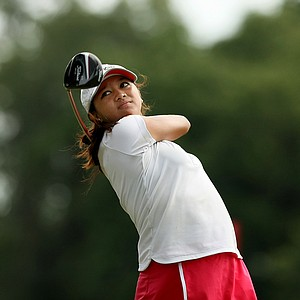 Princess Superal hits her tee shot at No. 12 during the first round of stroke play at the 2013 U. S. Women's Amateur at Country Club of Charleston.