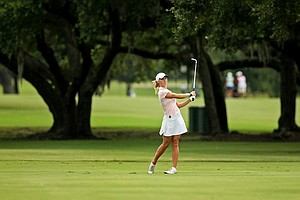 Cammie Gray during the first round of stroke play at the 2013 U. S. Women's Amateur at Country Club of Charleston.