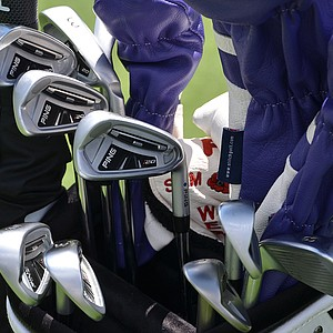Lee Westwood is hoping these Ping i20 irons will help him win his first major championship this week in Rochester, N.Y.