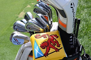 Stephen Gallacher is using TaylorMade's RocketBladez Tour irons and ATV wedges.
