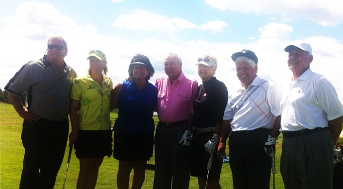 At the 2013 3M Championship's Greats of Golf, from left: Fuzzy Zoeller, Annika Sorenstam, Nancy Lopez, Arnold Palmer, Pat Bradley, Lee Trevino and David Graham.