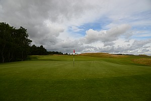 The green on the 11th hole at Kingsbarnes in Scotland.