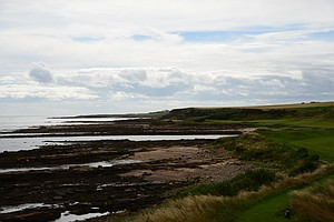 A view from the back of the 12th tee at Kingsbarnes in Scotland.