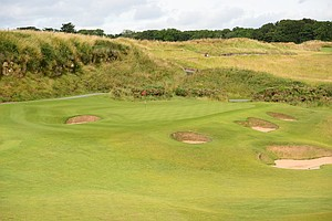 The par-3 13th hole at Kingsbarnes in Scotland.