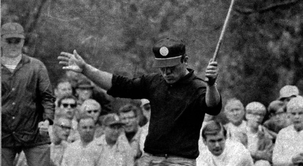 Lee Trevino during the 1968 U.S. Open at Oak Hill.