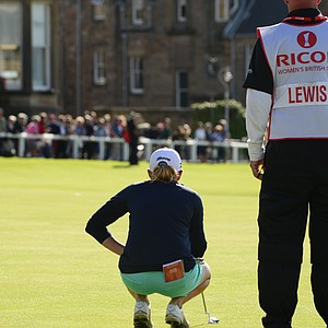 Stacy Lewis during her win at the 2013 Women's British Open at St. Andrews.