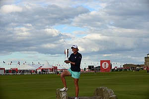 Stacy Lewis after her win at the 2013 Women's British Open at St. Andrews.