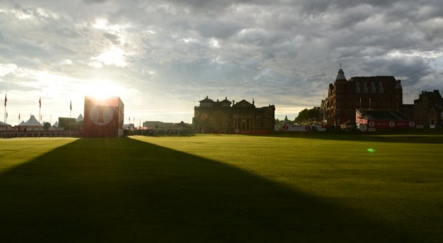 A look at the R&A clubhouse very early in the morning during the 2013 Women's British Open.