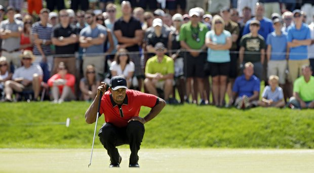 Tiger Woods during his win at the WGC-Bridgestone Invitational at Firestone CC in Akron, Ohio.