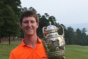 Jordan Niebrugge after his win at the 2013 Western Amateur.