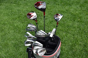 These are the clubs that Tiger Woods hopes will bring him a 15th career major championship this week at Oak Hill.