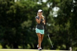 Emma Lavy during the second round of stroke play at the 2013 U. S. Women's Amateur at Country Club of Charleston.