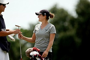 Ally McDonald posted a 72 during the second round of stroke play at the 2013 U. S. Women's Amateur at Country Club of Charleston.