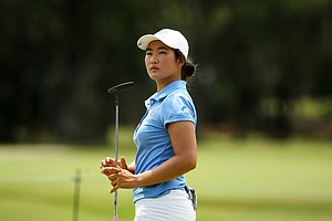 Su-Hyun Oh during the second round of stroke play at the 2013 U. S. Women's Amateur at Country Club of Charleston.