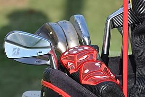 Davis Love, who won the 1997 PGA Championship at Winged Foot, is playing Bridgestone J40 Muscleback irons.