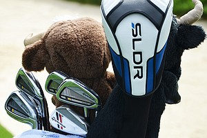 Sergio Garcia plays TaylorMade RocketBladez Tour irons and ATV wedges.