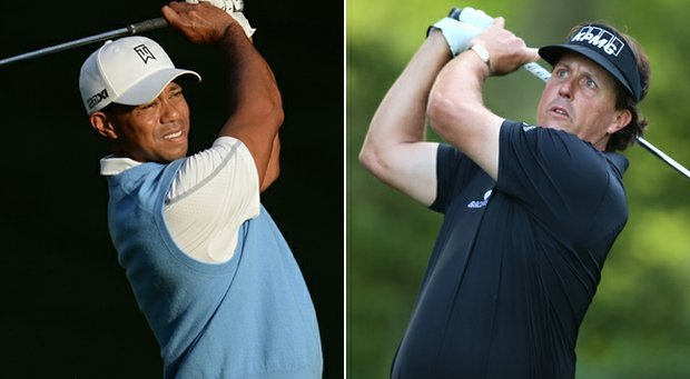 Tiger Woods has won five times this season, while Phil Mickelson won the Open Championship.