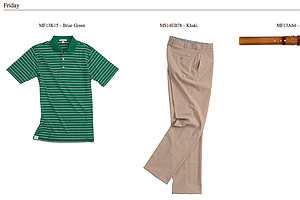 Bill Haas' apparel for Friday at the 2013 PGA Championship.