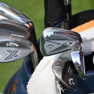 Thailand's Thongchai Jaidee has a shiny new set of Callaway X Forged irons and two Mack Daddy 2 wedges in his bag at the PGA Championship.