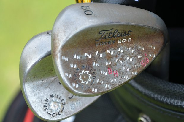 Bill Haas' Titleist Vokey Design Spin Milled wedge is stamped with HH to remind him of his son, William Harlan Haas, Jr.