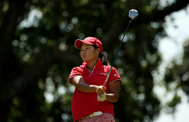 Yumi Matsubara defeated Bianca Maria Fabrizio 2 and 1 during the Round of 64 match play at the 2013 U. S. Women's Amateur.