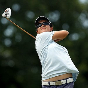 Yueer Cindy Feng defeated Saki Iida 5 and 4 during the Round of 64 match play at the 2013 U. S. Women's Amateur at Country Club of Charleston.