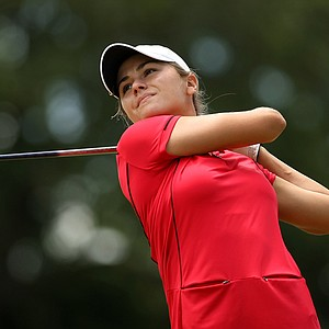 Emily Collins defeated Ember Schuldt, 2 and 1, during the Round of 64 match play at the 2013 U. S. Women's Amateur at Country Club of Charleston.