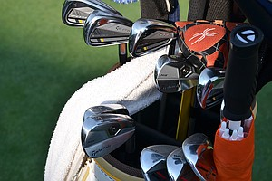 Justin Rose, reigning U.S. Open champion, uses a blend of TaylorMade RocketBladez Tour irons (3-6) and TaylorMade Tour Preferred Forged MB irons.