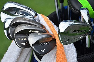 Chris Wood finished seventh last week at the WGC-Bridgestone Invitational using these Mizuno MP-69 irons and MP-T4 wedges.
