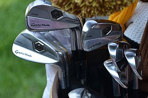 Dustin Johnson uses TaylorMade's Tour Preferred Forged MB irons.