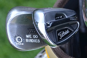 Josh Teater's gap wedge, a Titleist Vokey Design SM4, underscores the mission of every player in the field at Oak Hill.